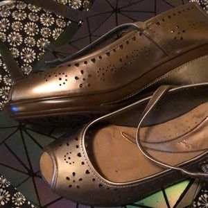 Gold tone shoes